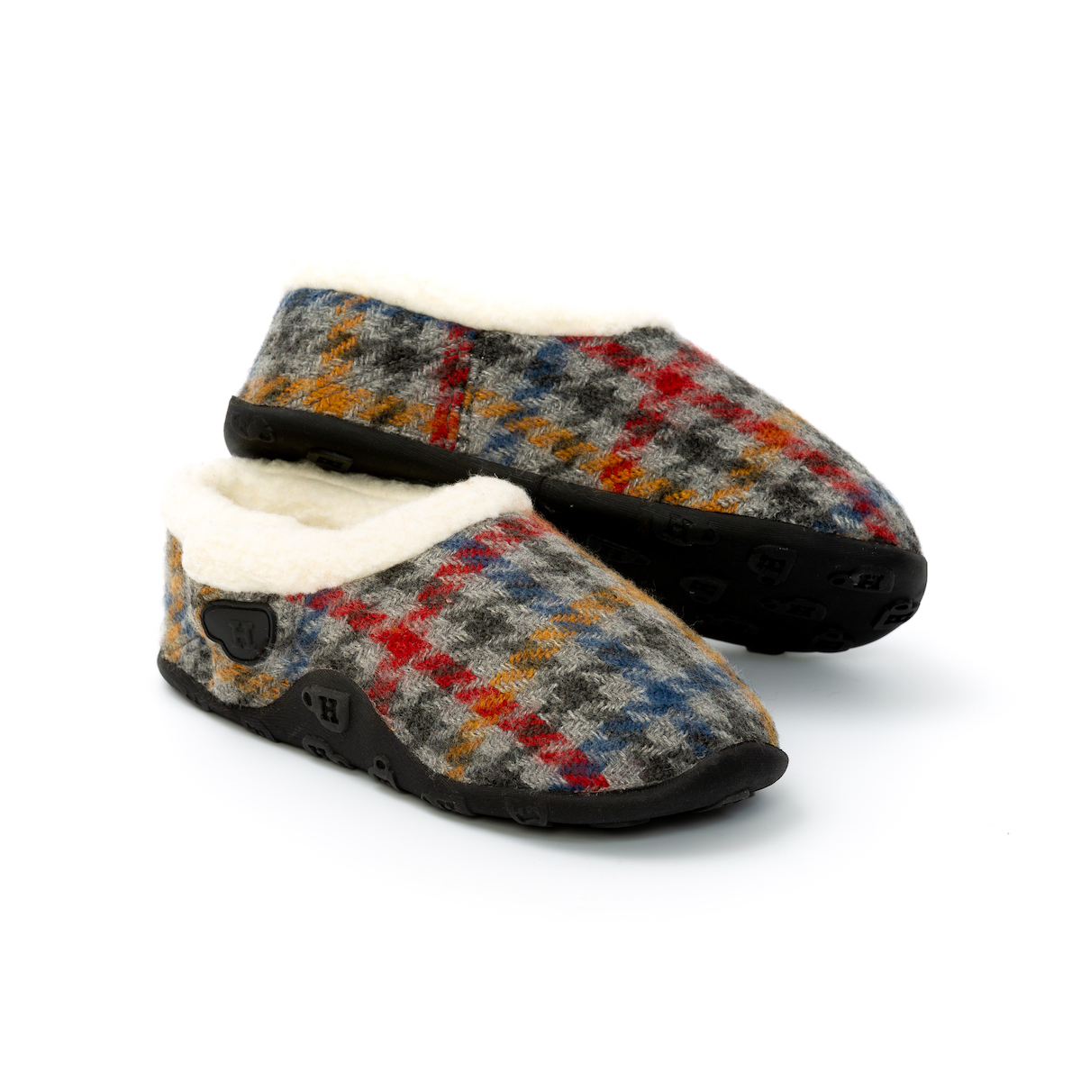 Patrick Kids - Multi-Coloured Tweed Boy's Slippers - Homeys