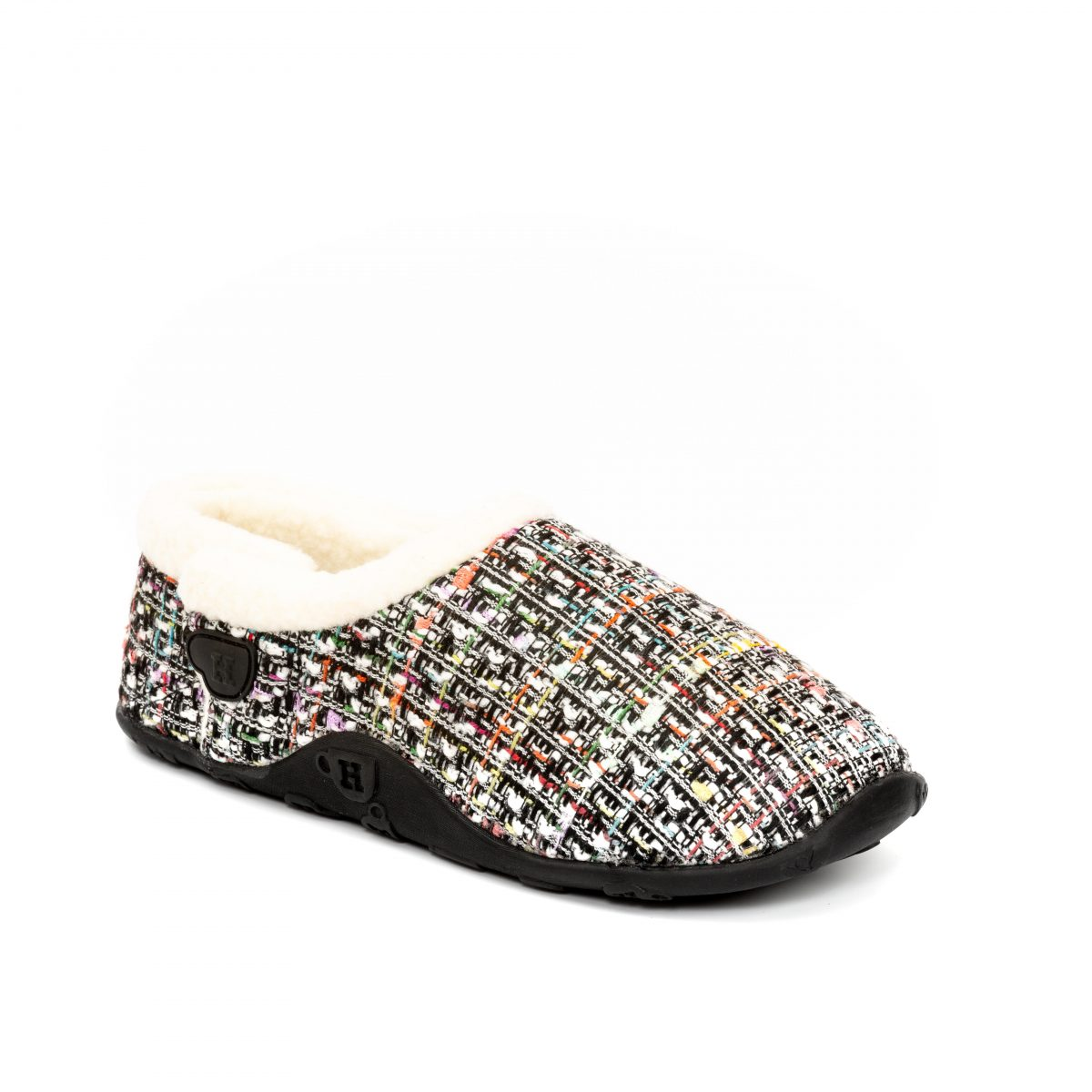 Coco Wht pnk blk tweed W 1 mr