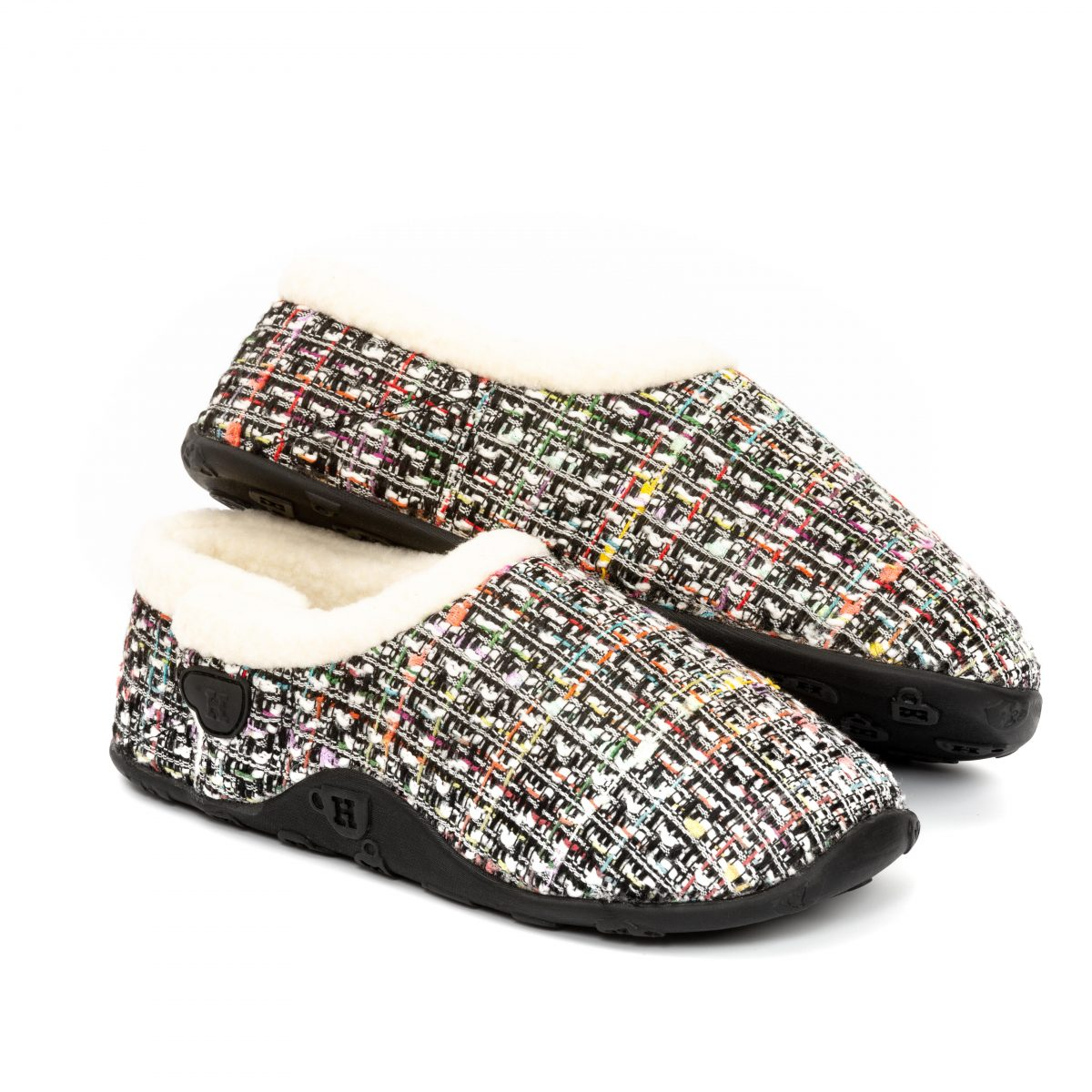 Coco Wht pnk blk tweed W 2 mr