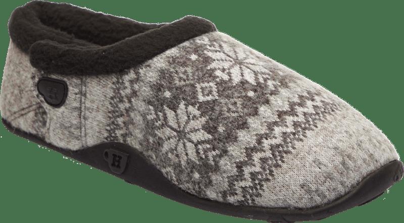 Kris Kids - Grey Black Nordic Patterned Slippers